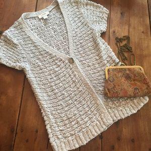 Ann Taylor LOFT Crochet Cardigan